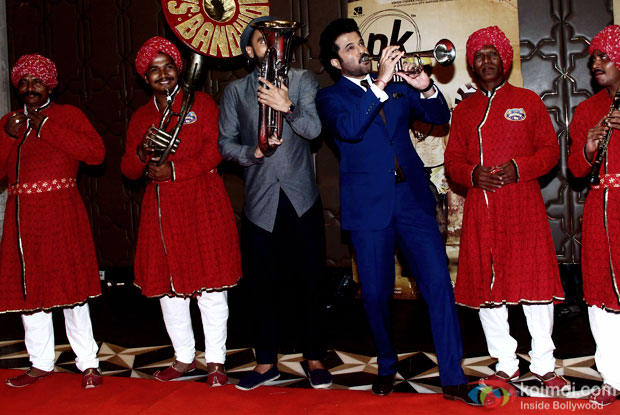 Ranveer Singh and Anil Kapoor during the success party of movie 'PK'