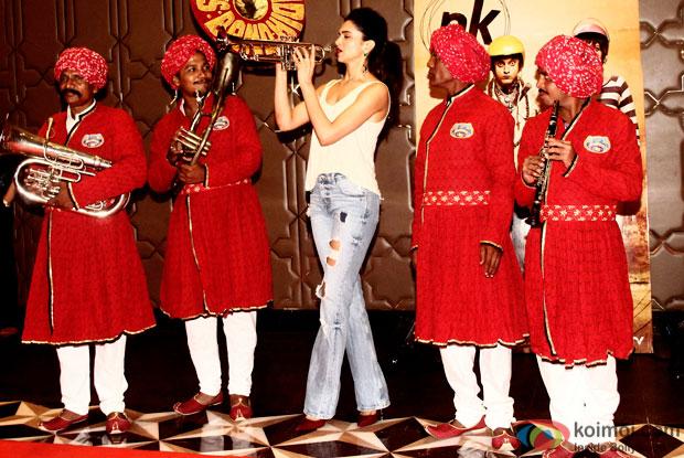 Deepika Padukone during the success party of movie 'PK'