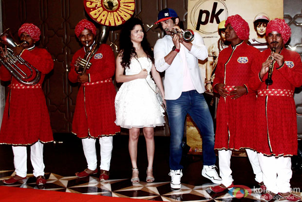 Ankita Lokhande and Sushant Singh Rajput during the success party of movie 'PK'