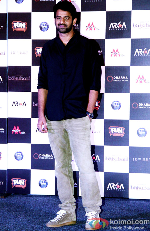 Prabhas during the first look poster launch of  'Baahubali - The Beginning'