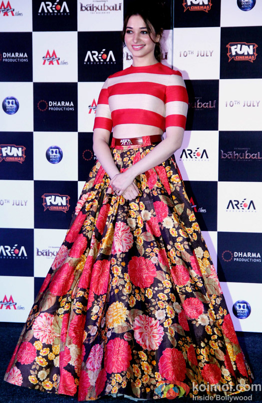 Tamannaah Bhatia during the first look poster launch of  'Baahubali - The Beginning'