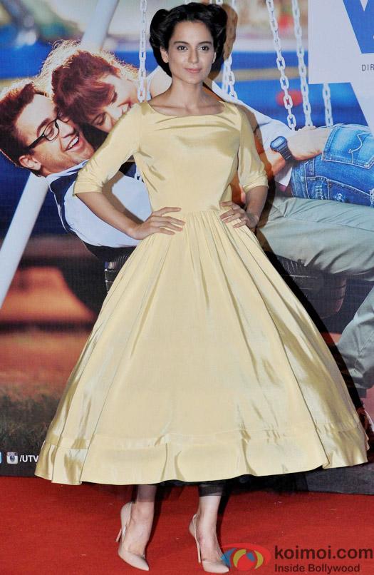 Kangana Ranaut during the trailer launch of movie 'Katti Batti'