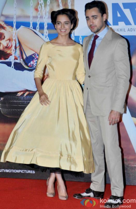 Kangana Ranaut and Imran Khan during the trailer launch of movie 'Katti Batti'