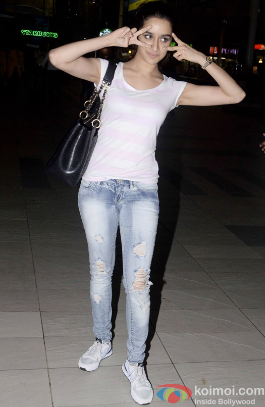 Shraddha Kapoor spotted at the domestic airport