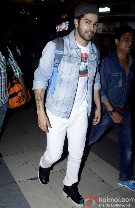Varun Dhawan spotted at the domestic airport