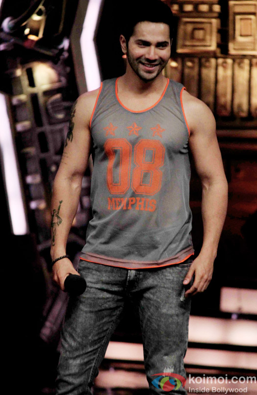 Varun Dhawan during the promotion of 'ABCD 2' on the sets of India's Got Talent