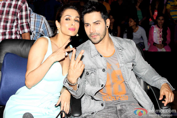 Malaika Arora Khan and Varun Dhawan during the promotion of 'ABCD 2' on the sets of India's Got Talent
