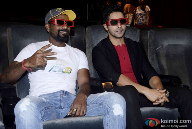 Remo D'Souza and Varun Dhawan during the song launch of movie ABCD 2