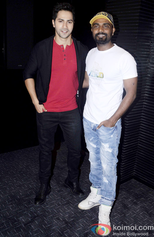 Varun Dhawan and Remo D'Souza during the song launch of movie ABCD 2