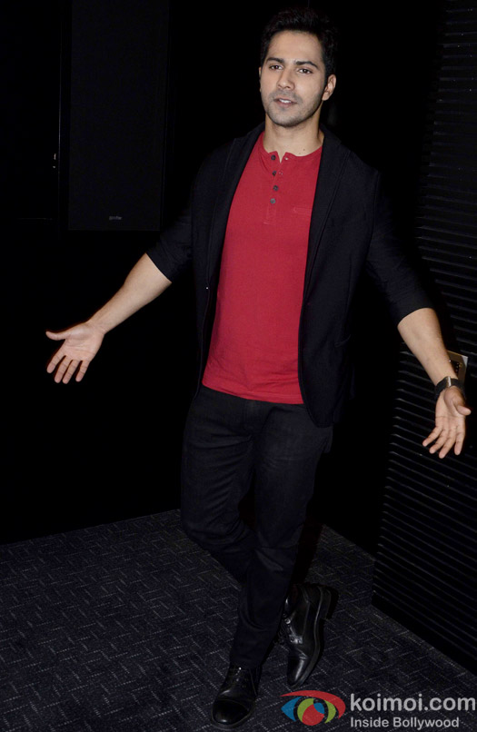 Varun Dhawan during the song launch of movie ABCD 2