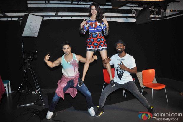 Varun Dhawan, Shraddha Kapoor and Remo D'Souza Snapped At ABCD 2 Promotions