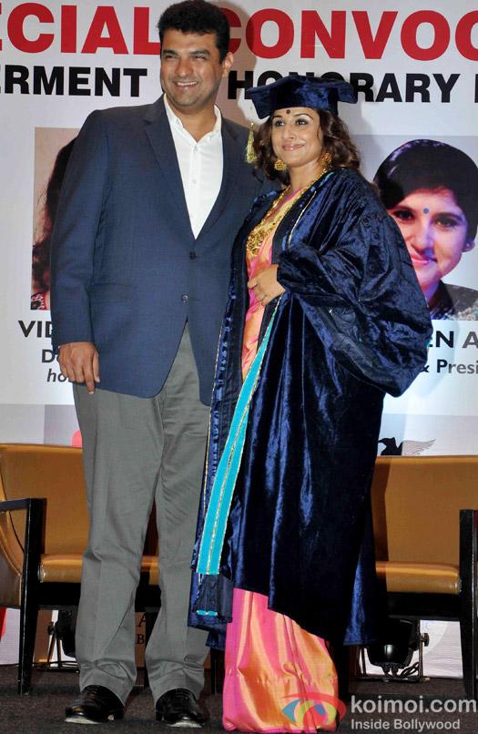 Siddharth Roy Kapur during Vidya Balan Conferred  With A Doctor Of Arts Honoris Causa