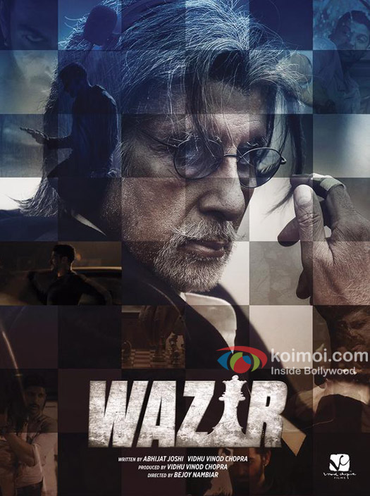 Amitabh Bachchan in a 'Wazir' movie poster