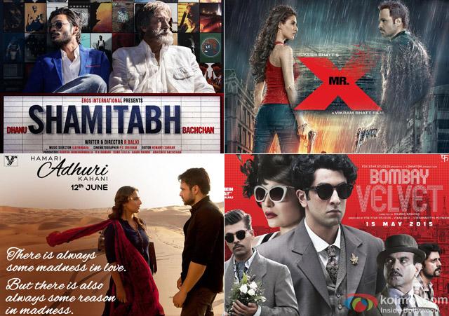 Shamitabh, Mr. X, Hamari Adhuri Kahani and Bombay Velevet Movie Poster