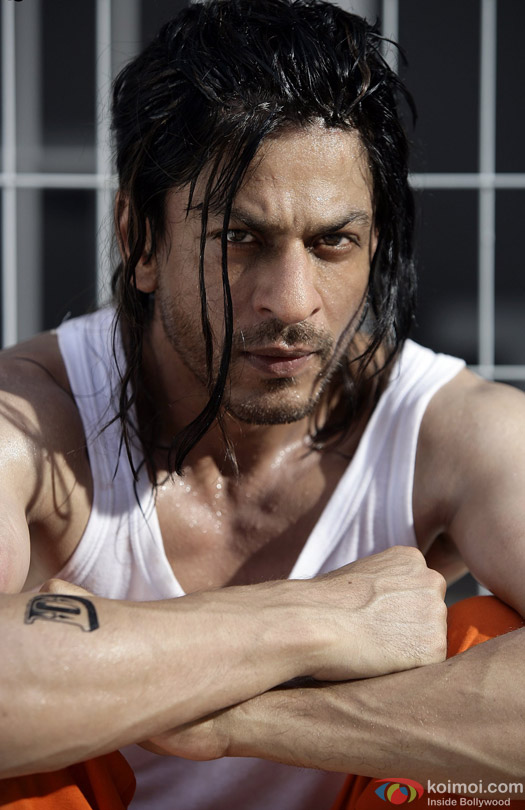 Shah Rukh Khan in a beard look still from movie 'Don 2 (2011)'