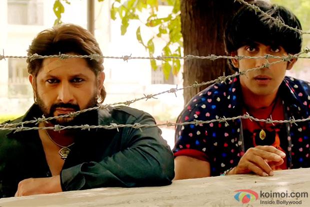 Arshad Warsi and Amit Sadh in a still from movie 'Guddu Rangeela'