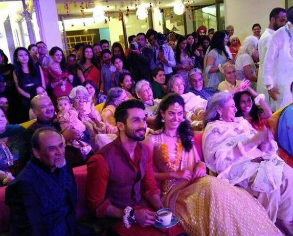 Shahid Kapoor And Mira Rajput At Their Sangeet Ceremony