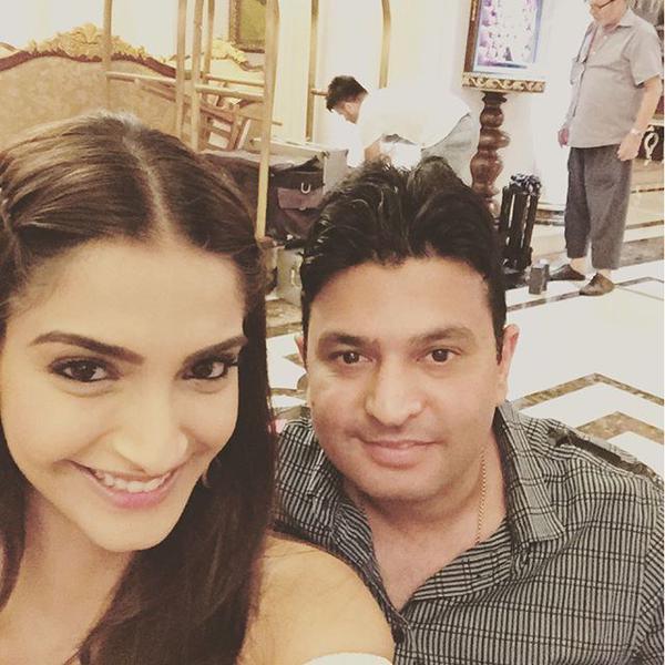 Sonam Takes Selfie With Bhushan Kumar
