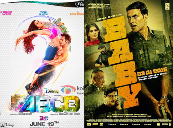 ABCD 2 and Baby movie posters