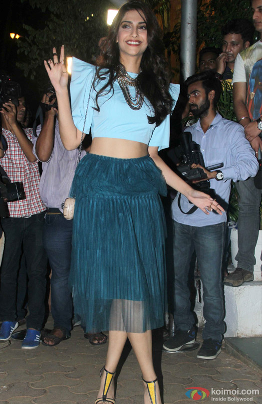 Sonam Kapoor during the 'ABCD 2′ Success Bash