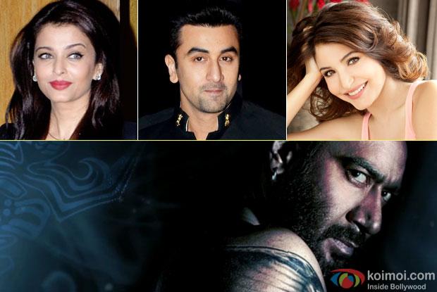 Aishwarya Rai Bachchan, Ranbir Kapoor, Anushka Sharma and Ajay Devgn
