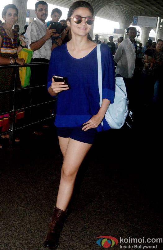 Ali Bhatt spotted at the Mumbai International Airport
