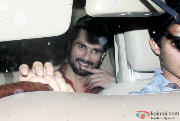 Shahid Kapoor Snapped Arriving At His Sangeet Ceremony Venue