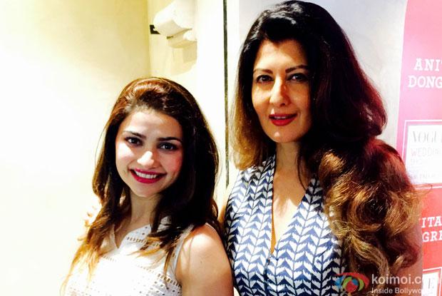 Prachi Desai met Azharuddin's second wife Sangeeta Bijlani at the event