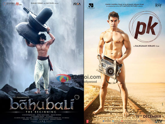 Bahubali and PK movie posters