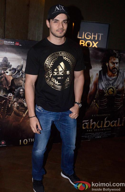 Suraj Pancholi during the screening of 'Bahubali- the Beginning'