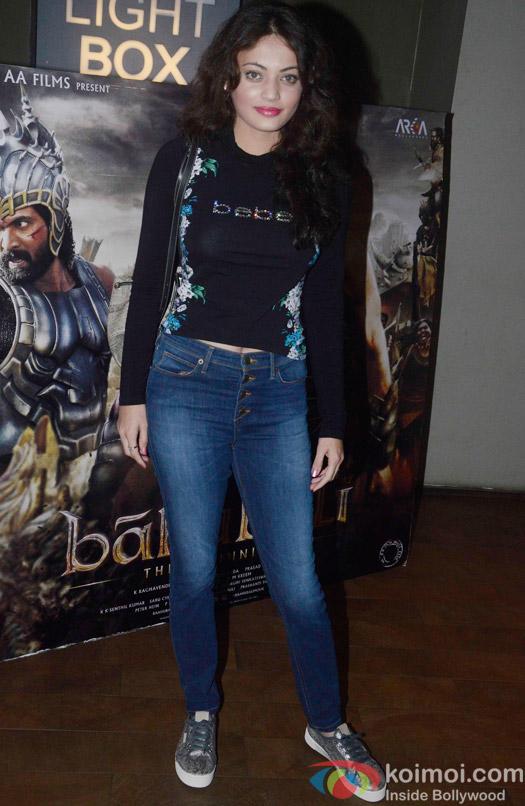 Sneha Ullal during the screening of 'Bahubali- the Beginning'