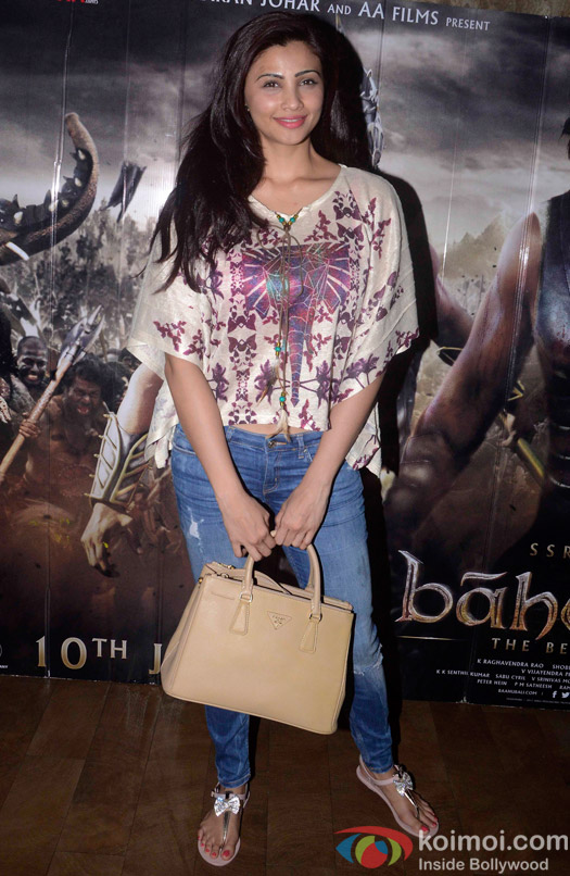 Daisy Shah during the screening of 'Bahubali- the Beginning'