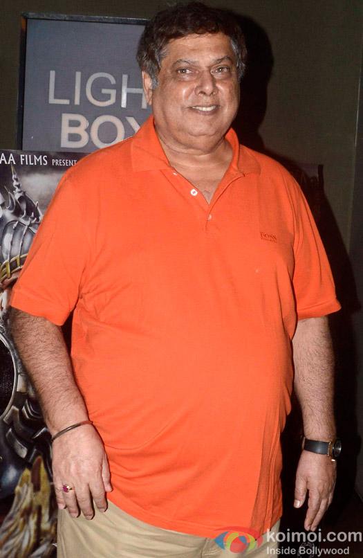 David Dhawan during the screening of 'Bahubali- the Beginning'