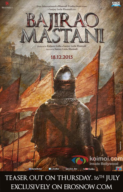 Ranveer Singh starrer 'Bajirao Mastani' movie poster