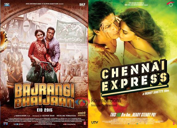 Bajrangi Bhaijaan and Chennai Express movie posters
