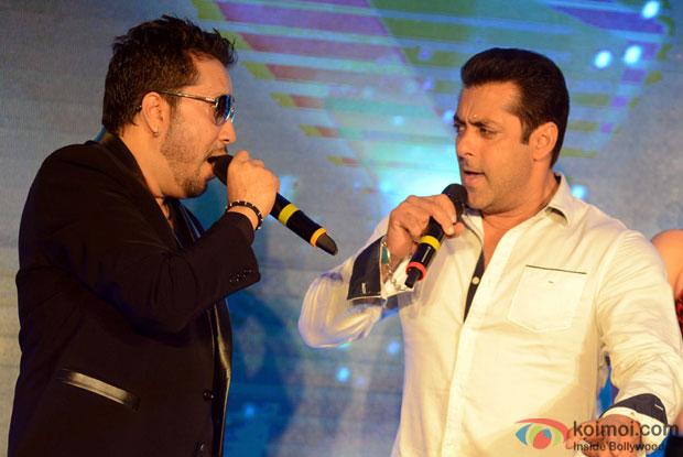 Mika Singh and Salman Khan during the promotion of movie Bajrangi Bhaijaan