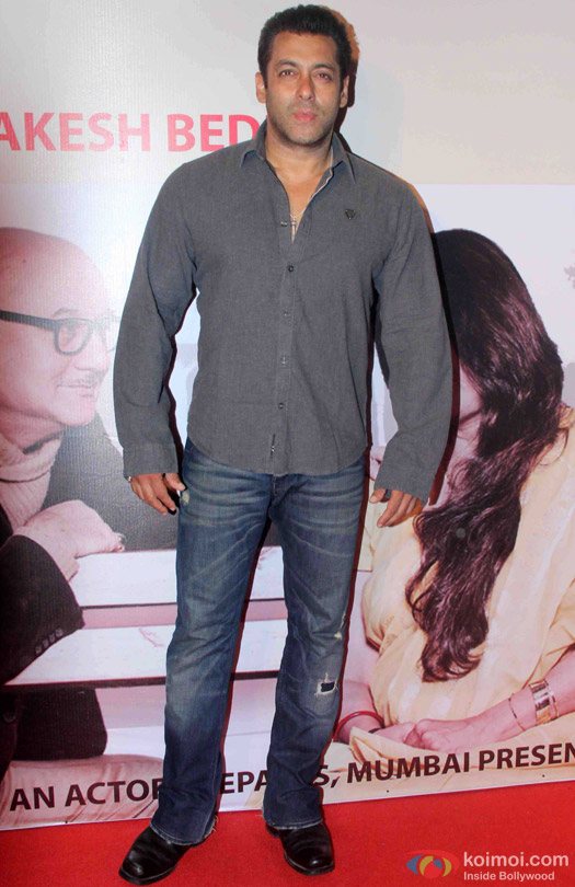 Salman Khan At Anupam Kher's Play 'Mera Woh Matlab Nahi Tha...'