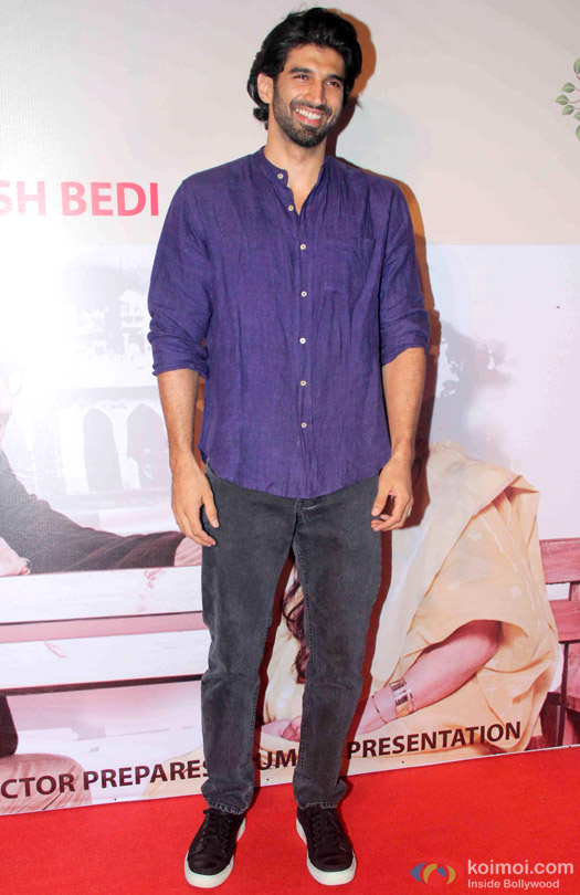 Aditya Roy Kapur At Anupam Kher's Play 'Mera Woh Matlab Nahi Tha...'
