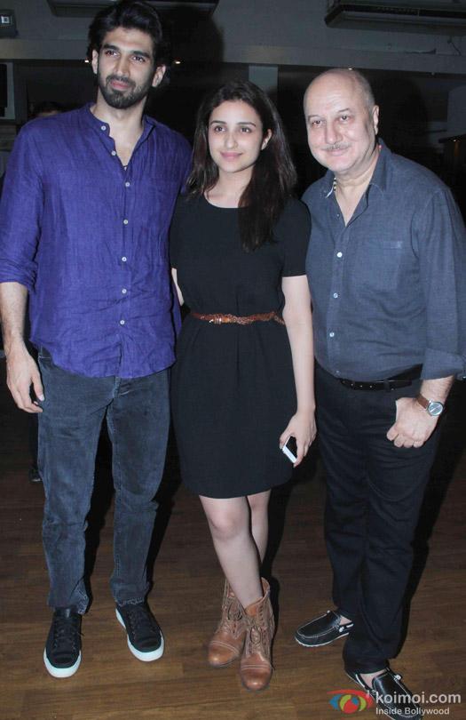 Aditya Roy Kapur and Parineeti Chopra At Anupam Kher's Play 'Mera Woh Matlab Nahi Tha...'