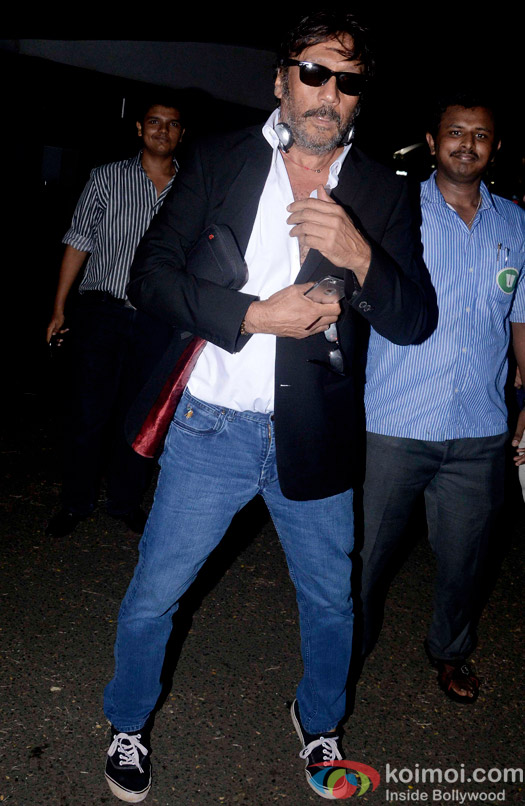 Jackie Shroff Snapped At Domestic Airport