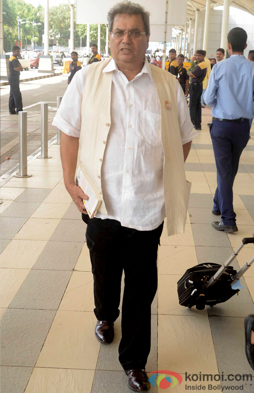 Subhash Ghai Snapped At Domestic Airport
