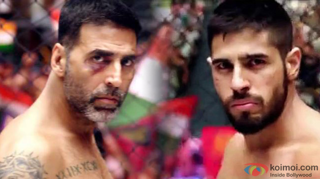 Akshay Kumar and Sidharth Malhotra in a still from movie 'Brothers'