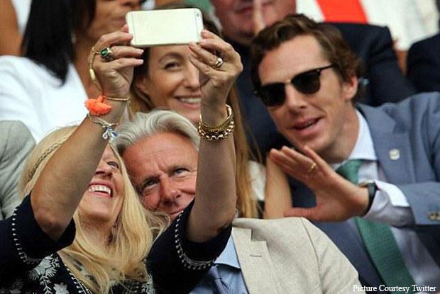 Benedict Cumberbatch Snapped At Wimbledon