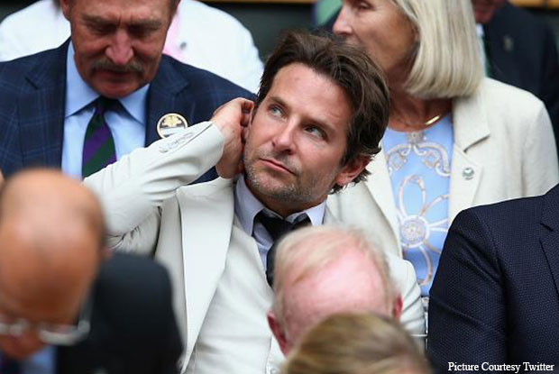Bradley Cooper Snapped At Wimbledon