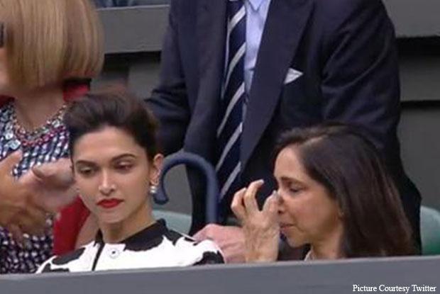 Deepika Padukone At Wimbledon Mens Finals