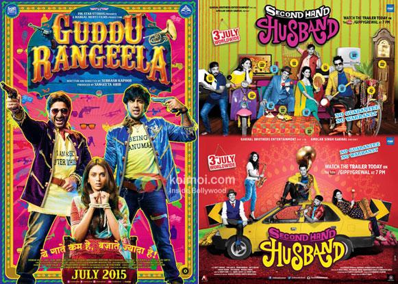 Guddu Rangeela and Second Hand Husband movie posters