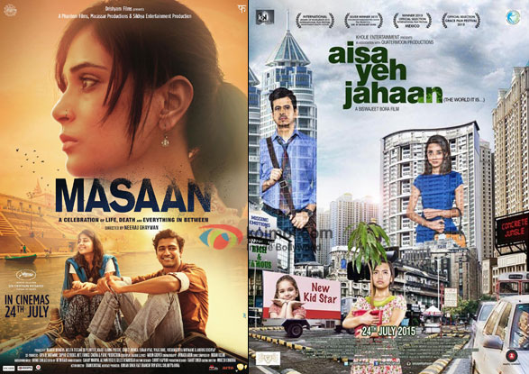 Masaan and Aisa Yeh Jahaan movie posters