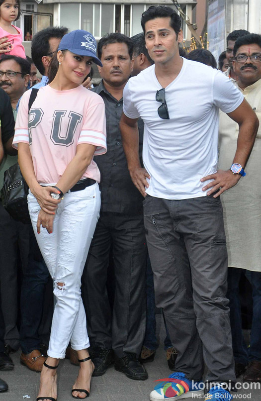 Jacqueline Fernandes and Dino Morea during the launch of Dino Moreas Fitness open gymnasium in Mumbai