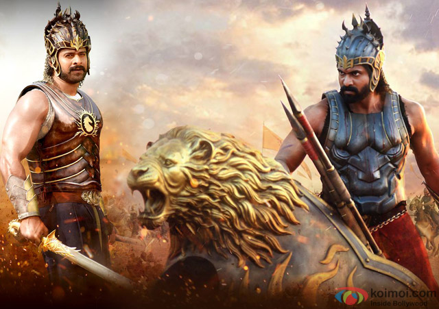 Prabhas and Rana Daggubati in a still from movie 'Baahubali'
