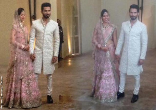 Newly Wed Shahid Kapoor & Mira Rajput